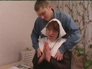 Older Nun Having Sex With Two Boys