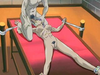 Bondage Hentai Girl Muscular Gets Electric Shock And Mouth Fucked