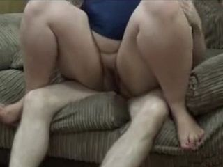 Fat Housewife Gets Fucked By A Skinny Neighbor On A Sofa