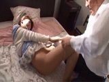 Japanese Maid Ayane Haruna Gets Roughly Punished By Her Employer For Seducing His Son