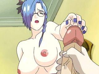 Hentai shemale blows and gets his cock jerked