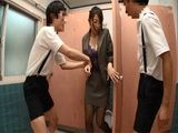 Students Followed Their Busty Teacher Shinoda Ayumi To A Toilet Where They Taped Her So They Could Blackmail And Fuck He