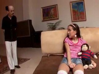 Old Pervert Busted Petite Teen Amai Liu Being Naughty