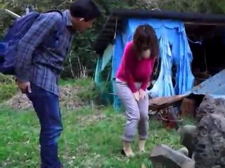 Big Boobed Milf Pee Her Pants Then Gets Fucked By Boy Outdoor