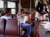 Blonde Gets Fucked By Some Tough Guys In The Bus