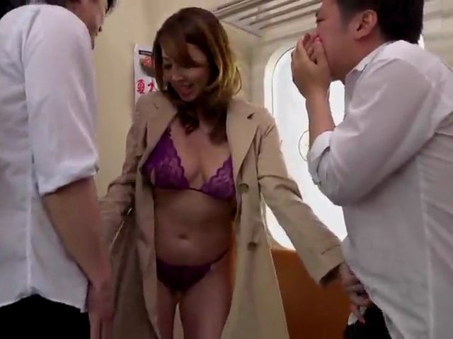 Busty MIlf Yumi Kazama Fucks 2 Student Boys In Crowded Bus