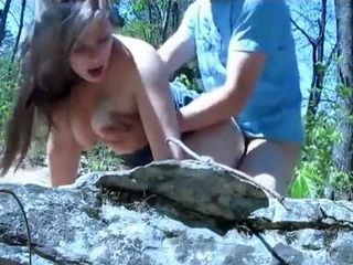 Young Couple Roleplays In The Forest