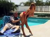 Rich Guys Wife Naughty Busty Milf Darla Crane Gets Fucked By the Pool