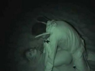 Voyeur taped With NIght Vision Camera College Girl Fucking on Beach