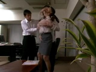 Blackmailed Milf Boss Reiko Takami Gets Fucked By Her Junior Employees at Her Office
