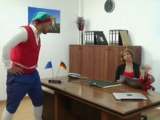 Weird Dressed Angry Guy Punishes Bitchy Office Milf With Hard Anal