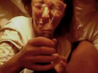 BBC Empty His Balls All Over Her Face and Glasses