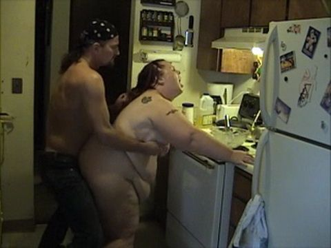 Huge BBW Amateur Wife Gets Hard Fucked In The Kitchen Homemade