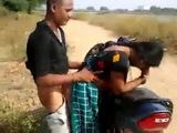 Desi Aunty Cheating On Her Hubby On A Bike Outside The City With A Younger Dude