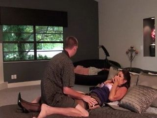 While Father Sleep Milf Stepmom Is Having Problem With Her Horny Teenage Stepson