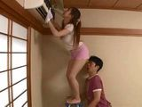 Guy Came In Right Moment To Help His Busty Neighbor Kitagawa Erika Cleaning The Air Conditioner
