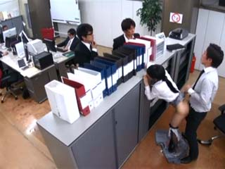 Secretary Gets Fucked By Colleague In Office Full Of Coworkers During Working Hours