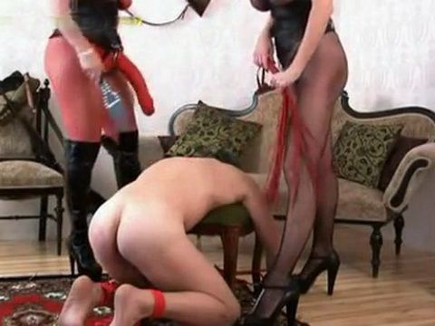 Male Sex Slave Mistreated And Tortured By Two Dominas