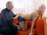 Old Geek Tutor Will Teach Naive Blonde Teen New Lesson Today