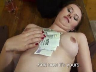 Busty Red Head Helan Gets a Fucked Hard for a Couple of Cash