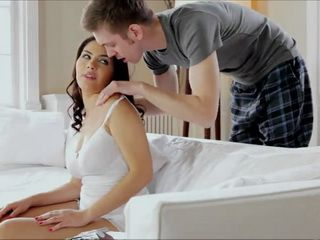 Giving Relaxing Shoulder Massage To Sensual Stepsister Valentina Goes In Too Far