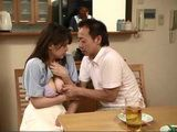 Horny Husband Almost Got Caught While Groping Wifes Best Friend Hitomi Inoue Who Come In Visit