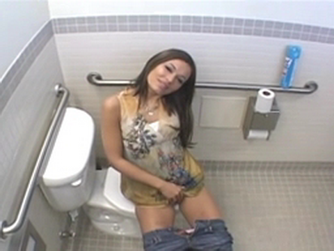 When Hot Sexy Girl Noticed That Voyeur Spying On Her In Public Toilet She Prepared  A Big Surprise For Him