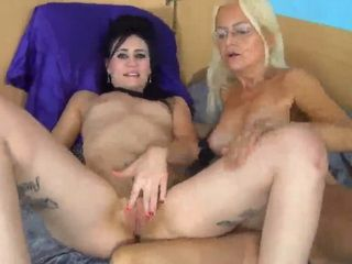 Granny has fun with nasty girl