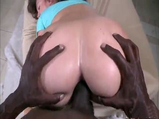 Beautiful Maddy Oreilly is banged in the ass by a massive black hard cock