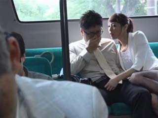 Horny MILF Hirose Nanami Seduced Stranger In Public Bus And Dragged Him Into Her Place To Out Down The Flame In Her Puss