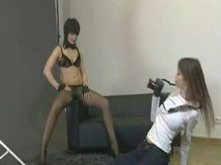 Lesbians StrapOn in Photo Session xLx