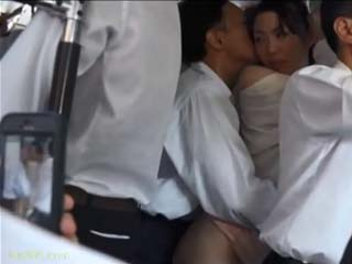 Housewife Aino Yuna Gets Groped And Fucked By Stranger In The Public Bus Without Noticing That Husbands Friend Taping