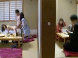 Two Schoolgirls Fucks Classmate In Traditional Japanese Restaurant