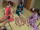Dirty Scumbag Playing Cards In Stripping With Traditional Kimono Girls Uncensored 2015 xLx
