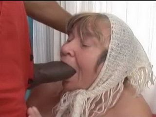 Dirty Granny Swallow BBC Of Her Neighbor