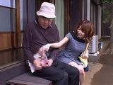 Nozomi Mayu Feling Bad For Grandpa Who Couldn't Get Boner Not Even With Porn Magazines And Decided To Step In And Help