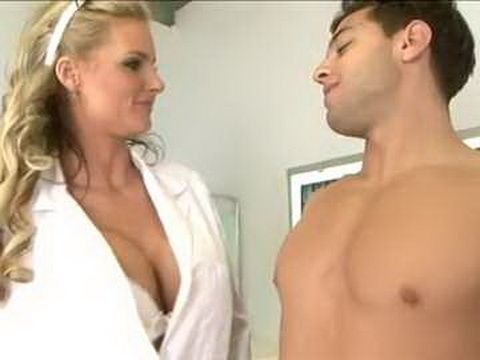 Paying Visit To A Busty Doc Realy Paid Off For The Sick Guy