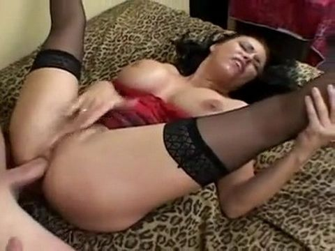 Busty Milf In Stockings Loves Hard Anal