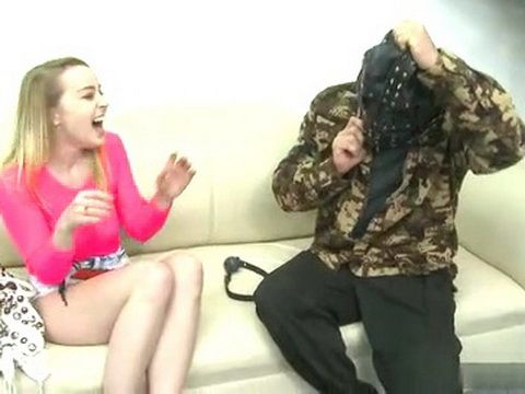 Crazy Madman Scared The Little Girl On Casting And Fucked Her After
