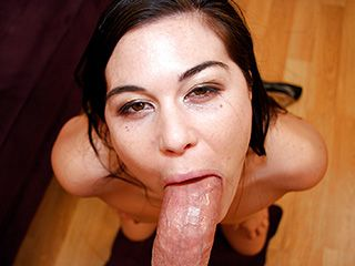 Hardcore Babe Ashley Blue Deepthroats and Gags On A Huge Dick
