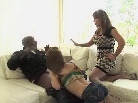 Busty MILF Stepmom Caught Stepdaughter While She Sucks Black Boyfriends Cock