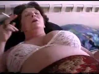 Large Grandma Playing With Herself