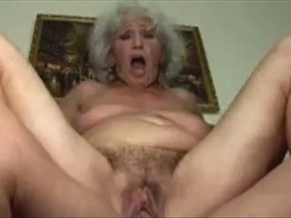 Fucking Grandma On The Couch