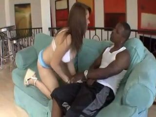 White Teen Babe Wanted To Try Black Dick For The First Time