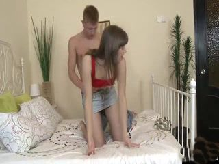 Pretty Teen gets it on with her well hung boyfriend