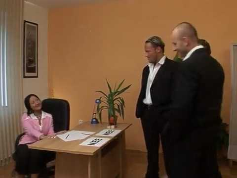 Submissive Woman Dominated By Three Gentlemen