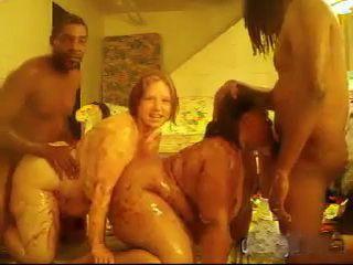 2 Dirty Amateur  BBWs Having Group Sex