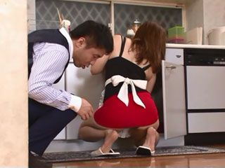 Maids Too Short Skirt Attracts Attention Of Bosses Horny Son - Matsuzaka Miki