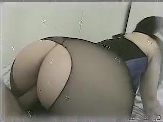 Guy Fucks His GFs Big Booty Through Pantyhose Hole