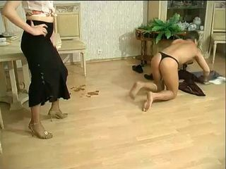 Bitchy Russian Mature Loves To Humiliate Guys Before She Let Them To Fuck Her